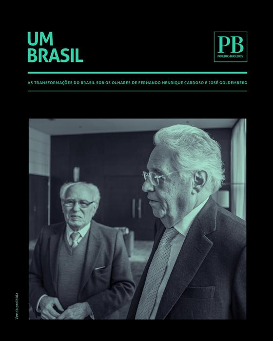 Encarte exclusivo da revista PB traz debate entre FHC e Goldemberg