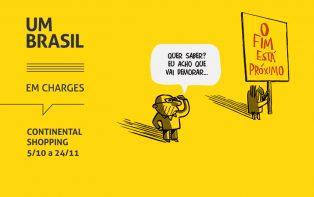 """""""UM BRASIL em charges"""" surpreende visitantes do Continental Shopping"""